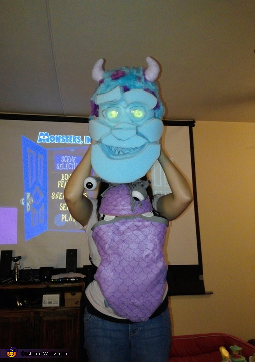 making Sully and Boo, Monsters Inc Family Costume