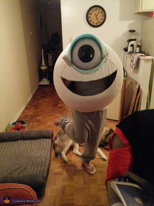making Wazowski, Monsters Inc Family Costume