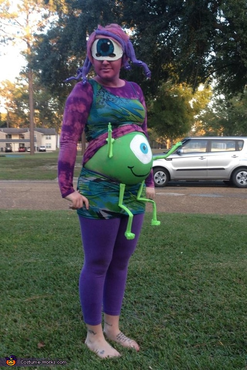 Homemade Monsters Inc. Family Costume