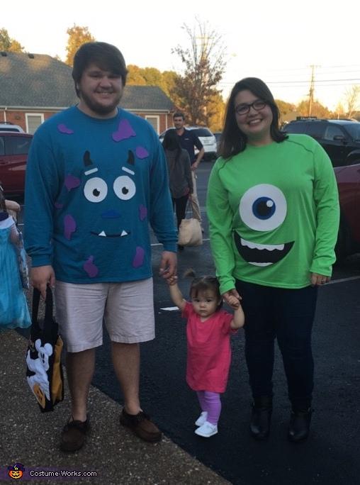 Easy Diy Monsters Inc Family Costume