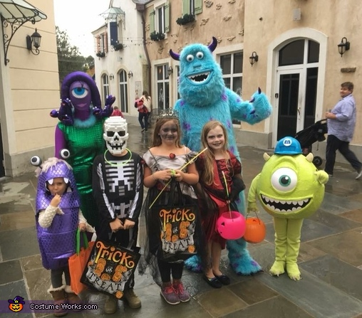 Trick or Treating, Monsters Inc. Costume