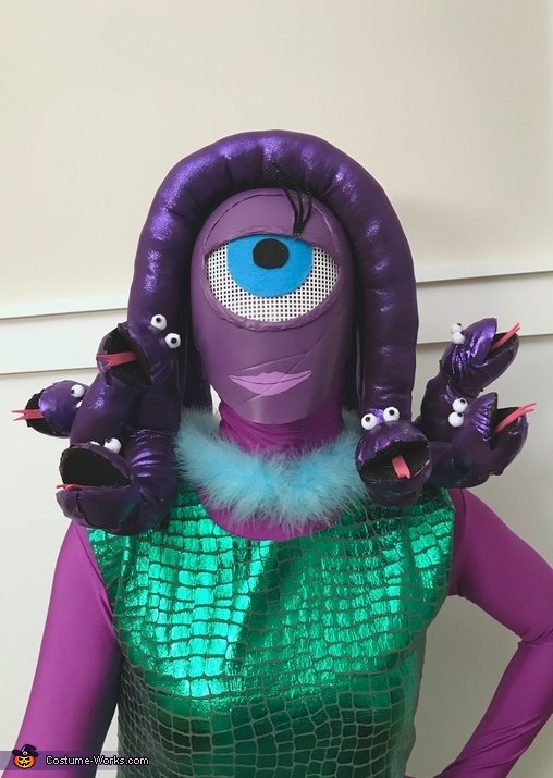 Celia Head Close Up, Monsters Inc. Costume