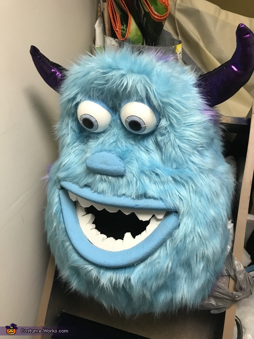 Sully Head Close Up, Monsters Inc. Costume