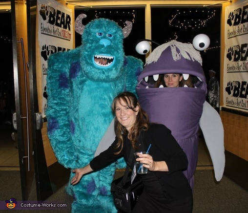 Sulley and Boo Monsters Inc. Monsters Inc. Sulley and Boo Costume & Monsters Inc. Sulley and Boo Homemade Halloween Costumes - Photo 2/4