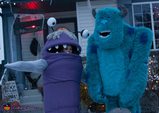 Monsters Inc. Sulley and Boo Costume & Monsters Inc. Sulley and Boo Homemade Halloween Costumes