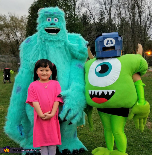 Monsters, Inc. Sulley, Boo and Mike Costume