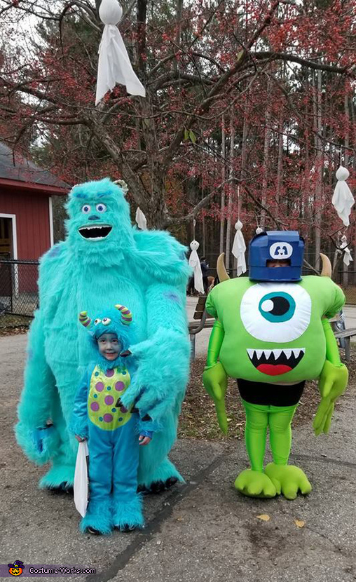 Monsters, Inc. Sulley, Boo and Mike Homemade Costume