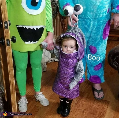 Family photo, Monters Inc Boo Costume
