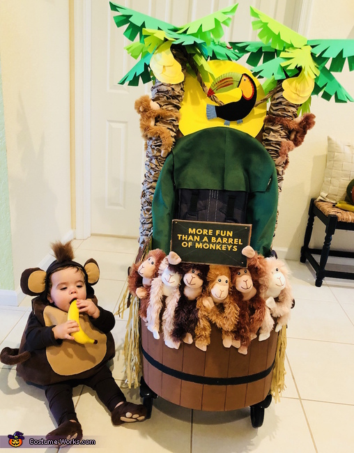 More Fun than a Barrel of Monkeys Homemade Costume