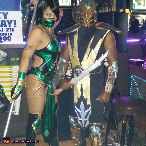 mortal kombat jade scorpion costume
