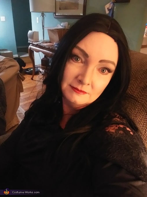 Morticia Addams and Lurch Homemade Costume