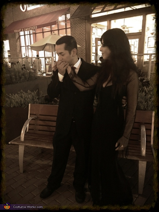 Eternal Love, Morticia and Gomez Addams Costumes