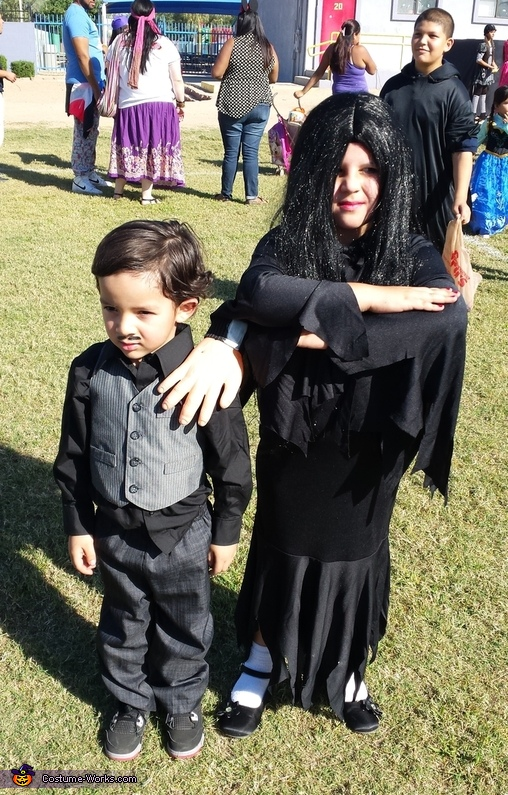 Morticia And Gomez Addams Costume For Kids