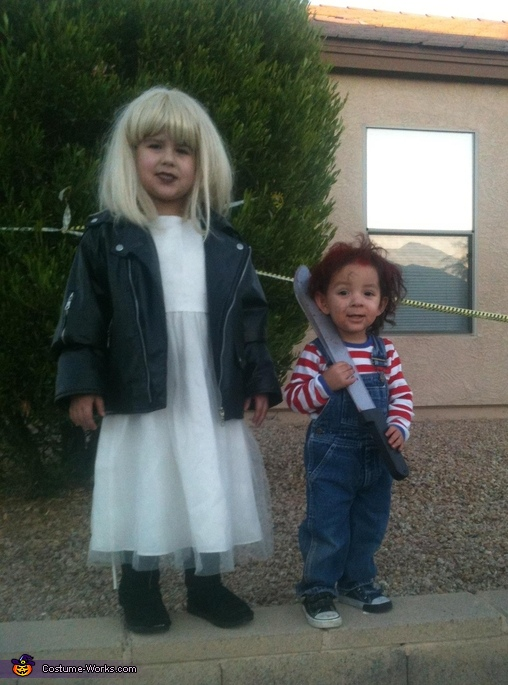 chucky and his bride, Morticia and Gomez Addams Costume