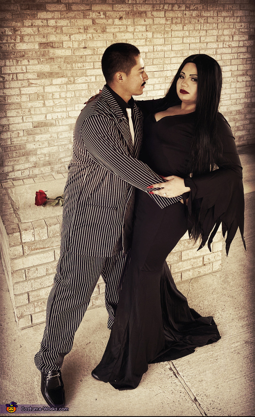 Morticia & Gomez Homemade Costume