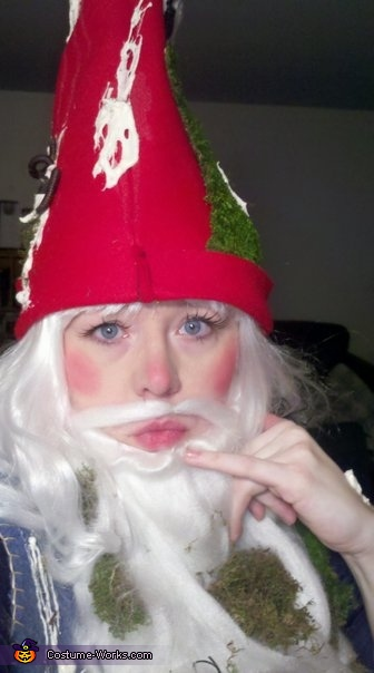 Do I have something on my hat?, Mossy Yard Gnome Costume
