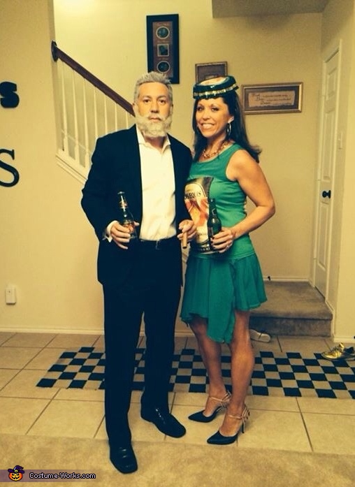 Most Interesting Man and Dos Equis Bottle Costume