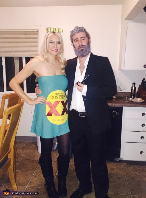 Most Interesting Man in the World and Dos Equis Bottle Costume