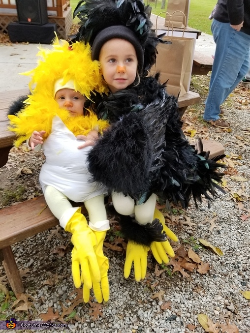 Mother Hen and her Chick Homemade Costume