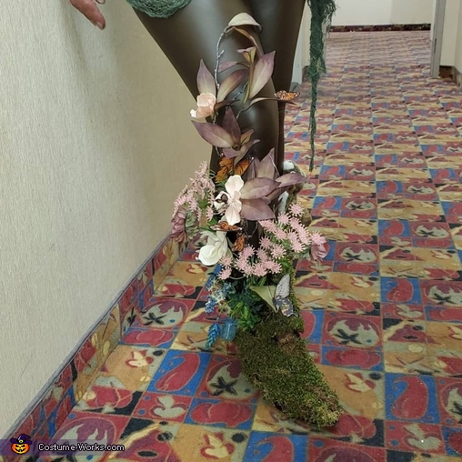 Butterfly kissed wild flower meadow foot/leg, Mother Nature Costume