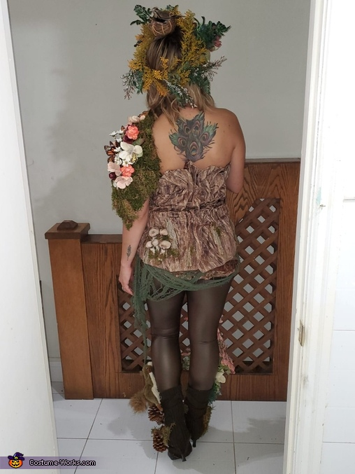 Costume from the back, Mother Nature Costume
