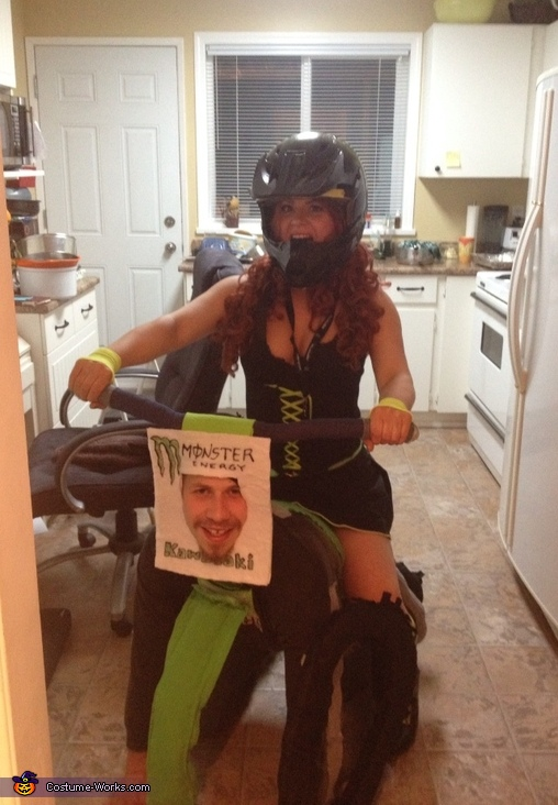 Front view, Motocross Couple Costume
