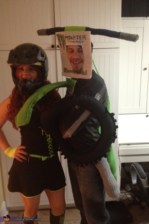 Standing up, Motocross Couple Costume