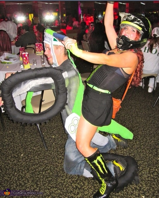 Side view, Motocross Couple Costume