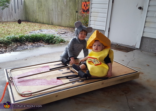Mouse and Cheese Babies Homemade Costume