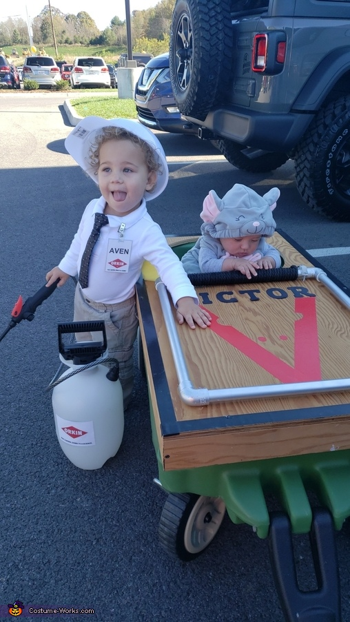 Mouse and Exterminator Homemade Costume