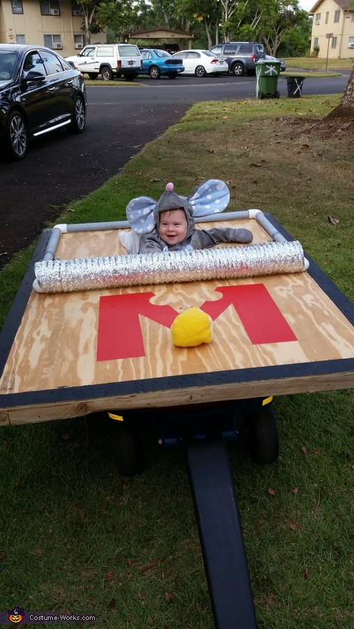 Mouse Stuck in a Mouse Trap Homemade Costume