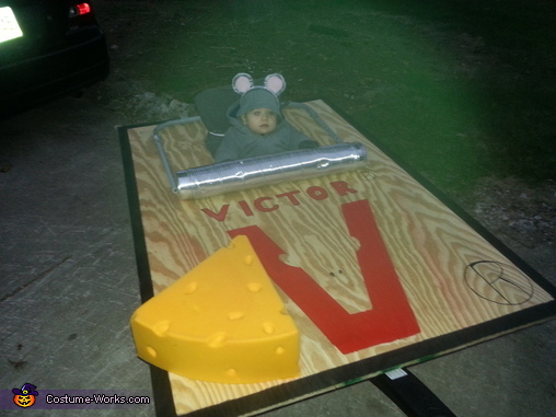 Mouse Trap Baby Costume DIY