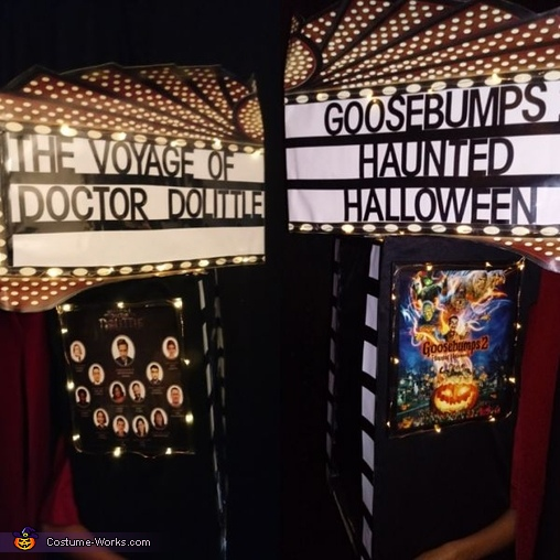 Movie Theatre side views, Movie Theatre Costume