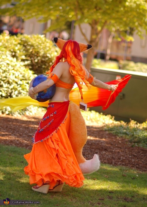 Back of costume, Mozilla Firefox Costume
