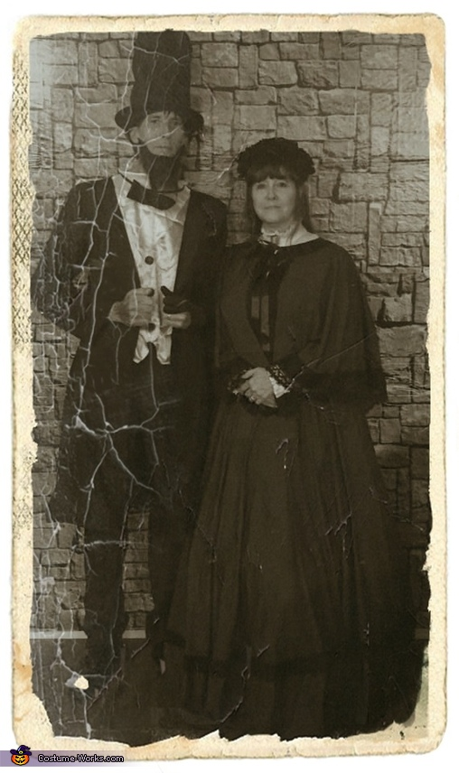 (Same as first photo, with with an antique filter.), Mr. and Mrs. Abraham Lincoln Costume