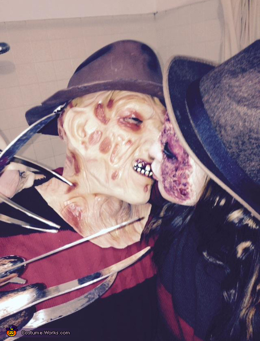Mr and Mrs Freddy Krueger Homemade Costume