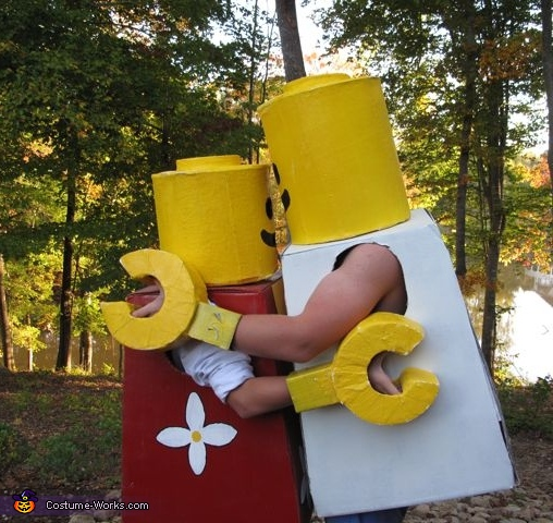 Brother and Sister love lego hug!  , Mr. and Mrs. Lego People Costume