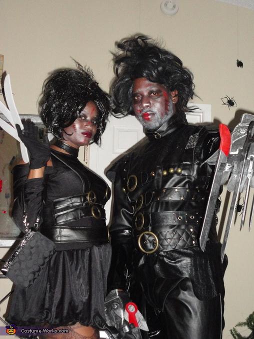 Mr. and Mrs Scissorshands Homemade Costume