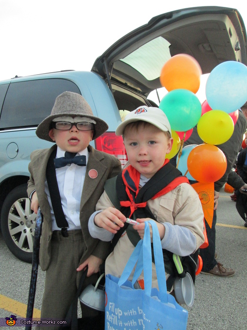 Mr. Fredrickson and Russell from Up - Homemade costumes for boys