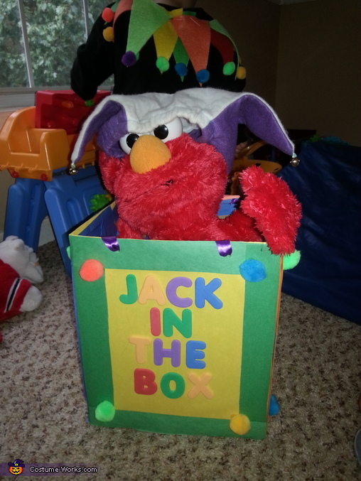 Elmo loves the box, Mr. Jack in the Box Baby Costume