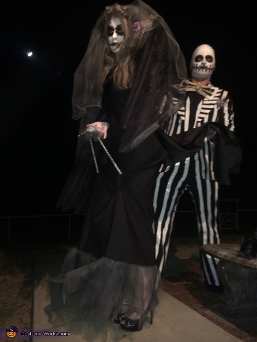 Mr. & Mrs. Jack Skellington Homemade Costume