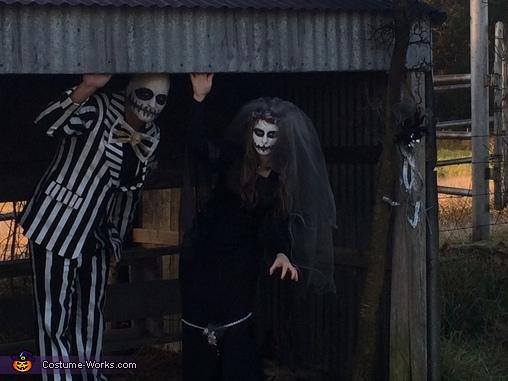 Mr. & Mrs. Jack Skellington Homemade Costume