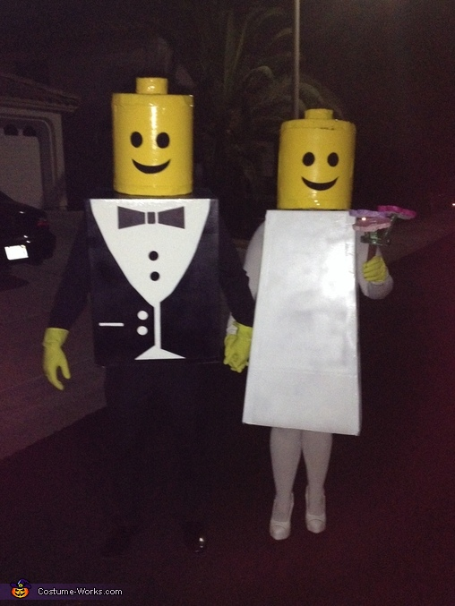 Mr & Mrs Lego Couple's Costume