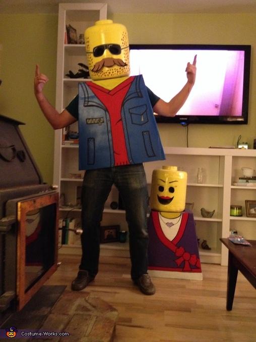 Mr. & Mrs. Lego Homemade Costume