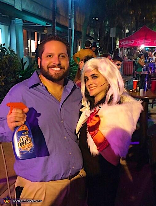 Mr. Oxi Clean and Cruella De Vil Costume