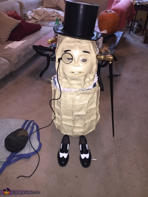 The entire outfit., Mr. Peanut Costume
