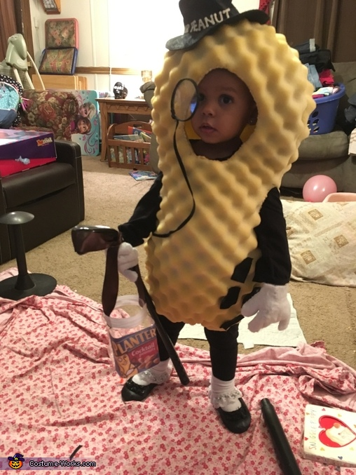 mr peanut baby homemade costume