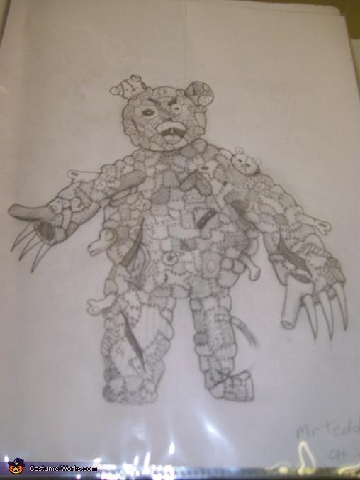 Mr. Teddy Homemade Costume