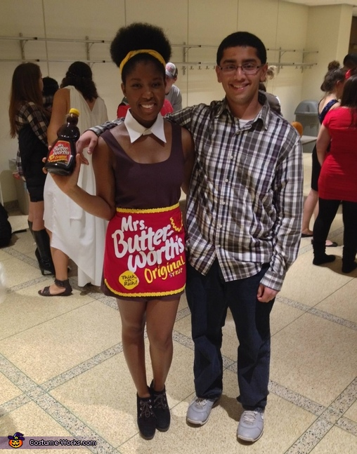 This was with a dress under the apron, Mrs. Butterworth's Syrup Costume