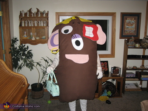 Mixed up with parts in wrong spots just like we did when we were kids, Mrs Potato Head Costume